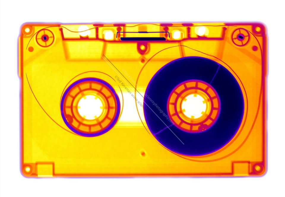 X-ray of a audio cassette