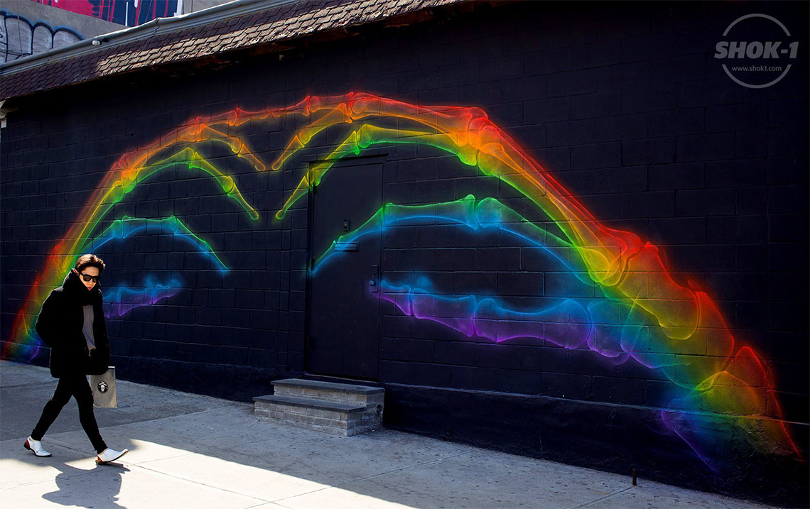 X-Rainbow (God was Nature), SHOK-1, Brooklyn (NY), 2014